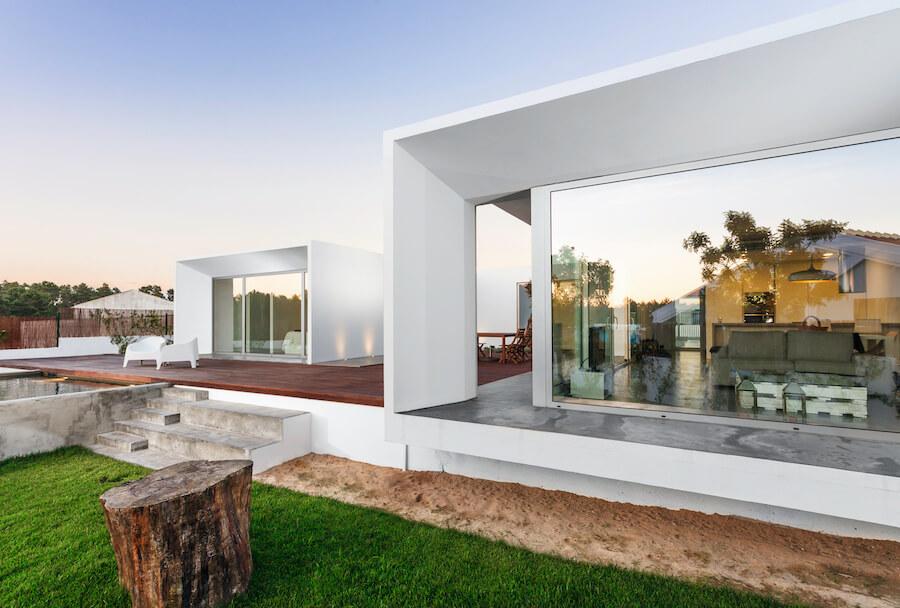 modern hus byggd med hustillverkare